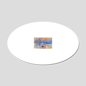 RM Monet Sunrise 20x12 Oval Wall Decal