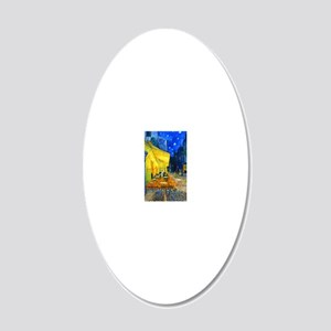 iPadS VG Cafe 20x12 Oval Wall Decal