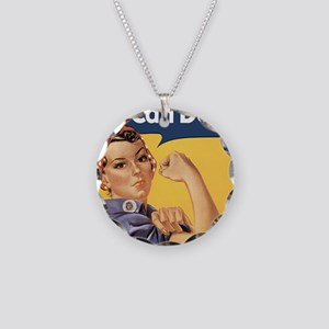rosie4SC Necklace Circle Charm