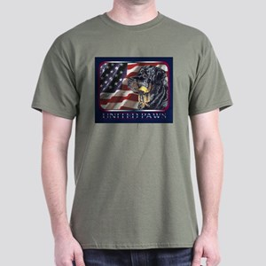Rottweiler US Flag Patriotic Dark Colored T-Shirt