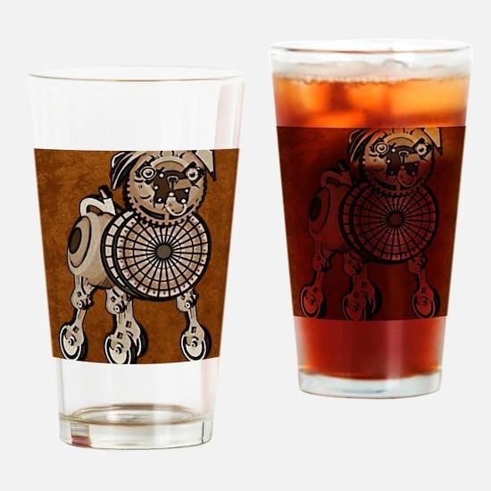 ipad2CaseSteampunkPug Drinking Glass