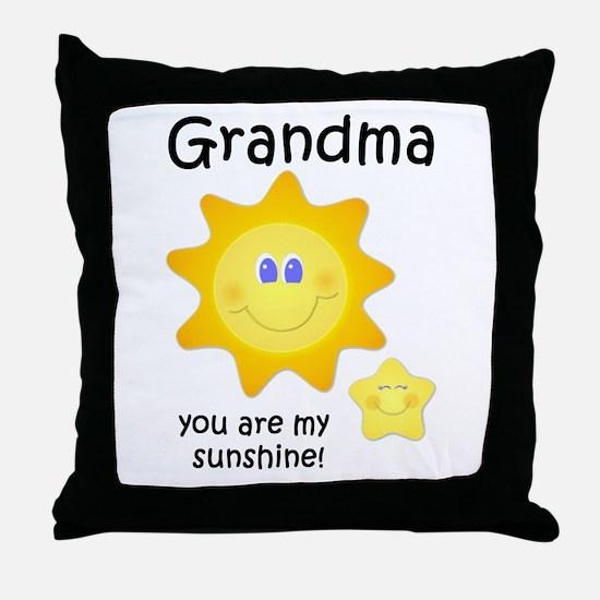 Cute Personalized grandma 6 kids Throw Pillow