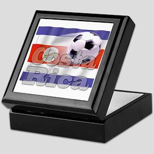 Soccer Flag Costa Rica Keepsake Box