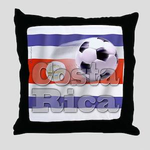 Soccer Flag Costa Rica Throw Pillow