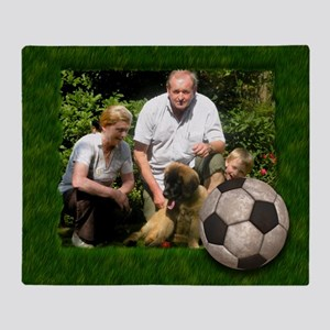 Your photo in a Soccer Frame Throw Blanket
