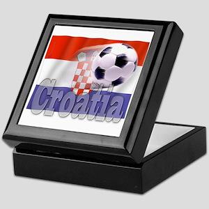 Soccer Flag Croatia Keepsake Box