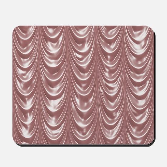 PinkSatinScallopsSQ12 Mousepad