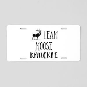 Team Moose Knuckle Aluminum License Plate