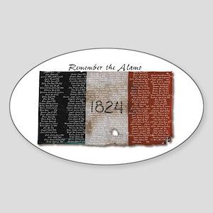 Oval Sticker -- Remember the Alamo.