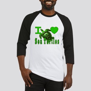 I LOVE ( Heart ) Sea Turtles  Baseball Jersey