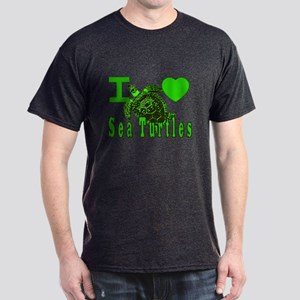 I LOVE ( Heart ) Sea Turtles  Dark T-Shirt