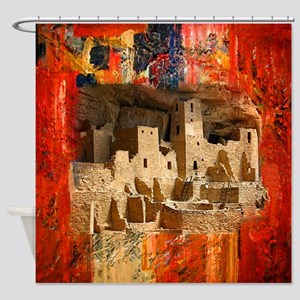 Adobe Cliffs Shower Curtain