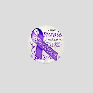I Wear Purple Because I Love My Grandm Mini Button