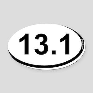13.1 marathon oval 1 Oval Car Magnet