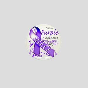I Wear Purple Because I Love My Niece Mini Button
