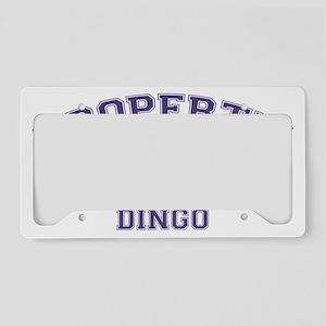 dingoproperty License Plate Holder