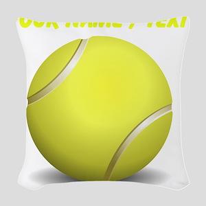 Custom Tennis Ball Woven Throw Pillow