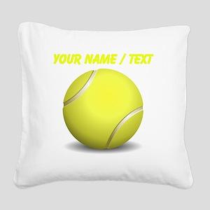 Custom Tennis Ball Square Canvas Pillow