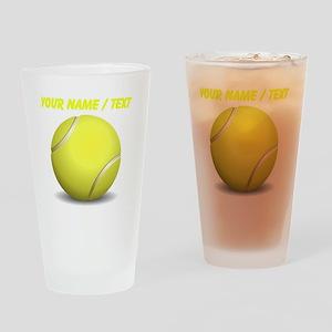 Custom Tennis Ball Drinking Glass