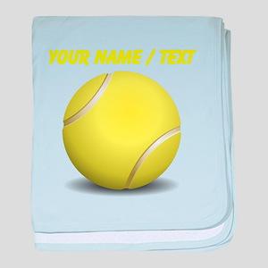 Custom Tennis Ball baby blanket