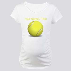 Custom Tennis Ball Maternity T-Shirt