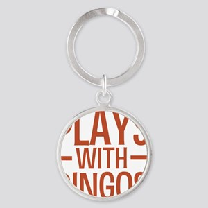 playsdingos Round Keychain