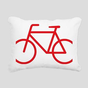 bikered Rectangular Canvas Pillow