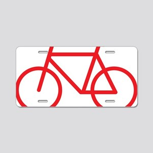 bikered Aluminum License Plate