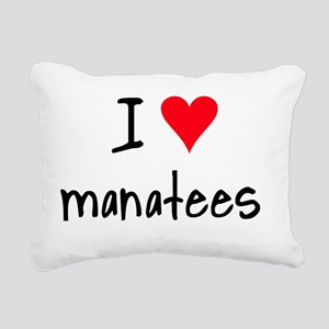 iheartmanatees Rectangular Canvas Pillow