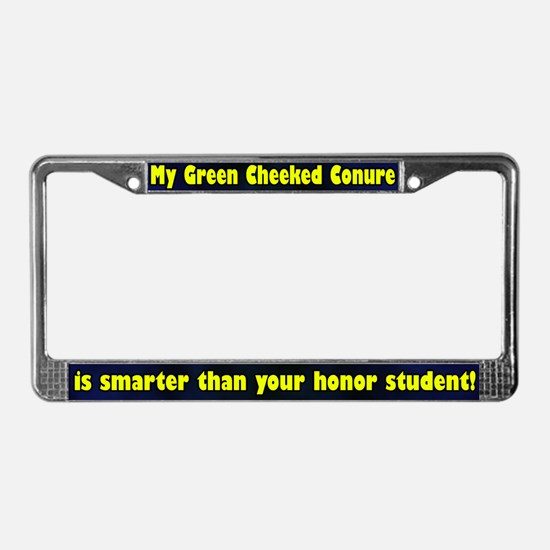 Student Green Cheeked Conure License Plate Frame