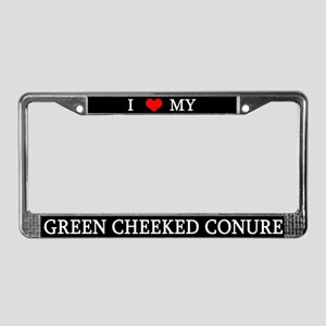 Love Green Cheeked Conure License Plate Frame