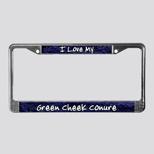 Funky Love Green Cheeke Conure License Plate Frame