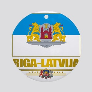 Riga (Flag 10)2 Round Ornament