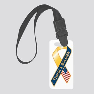 Thank A Soldier Ribbon Small Luggage Tag