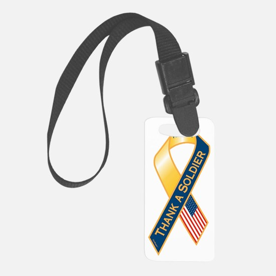 Thank A Soldier Ribbon Luggage Tag