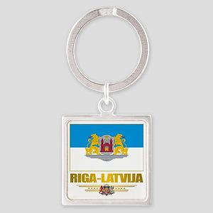Riga (Flag 10)2 Square Keychain
