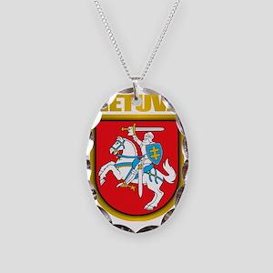 Lithuania COA 2 Necklace Oval Charm