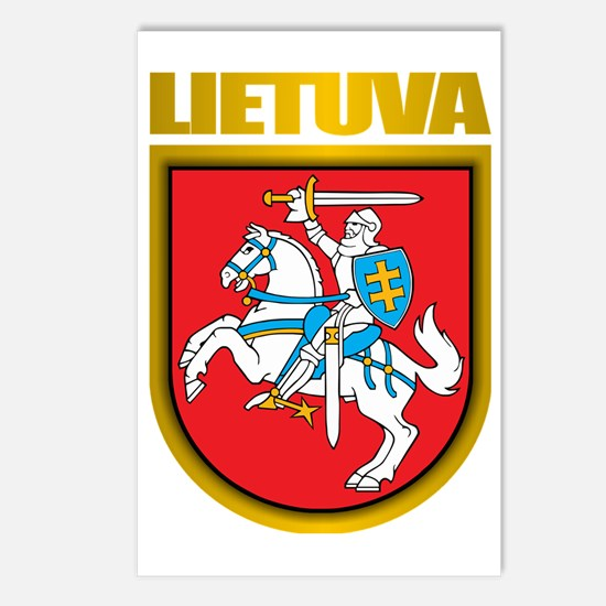 Lithuania COA 2 Postcards (Package of 8)