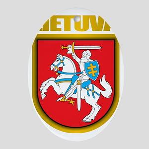 Lithuania COA 2 Oval Ornament