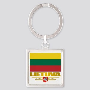 Lithuania (Flag 10)2 Square Keychain