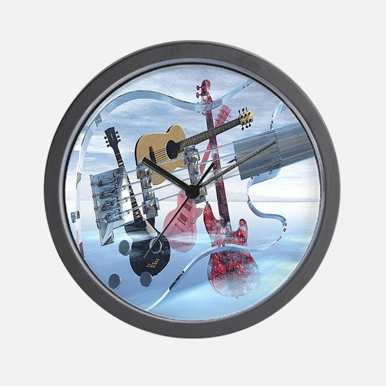 GlassBass Wall Clock
