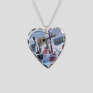GlassBass Necklace Heart Charm
