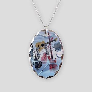 GlassBass Necklace Oval Charm