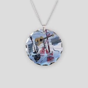 GlassBass Necklace Circle Charm