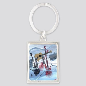 GlassBass Portrait Keychain
