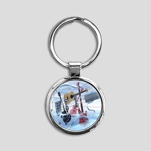 GlassBass Round Keychain