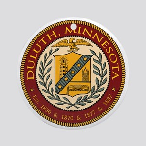 DuluthSeal_10x10 Round Ornament