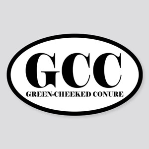 GCC Green-Cheeked Conure Oval Sticker