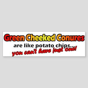 Potato Chips Green Cheeked Conure Bumper Sticker