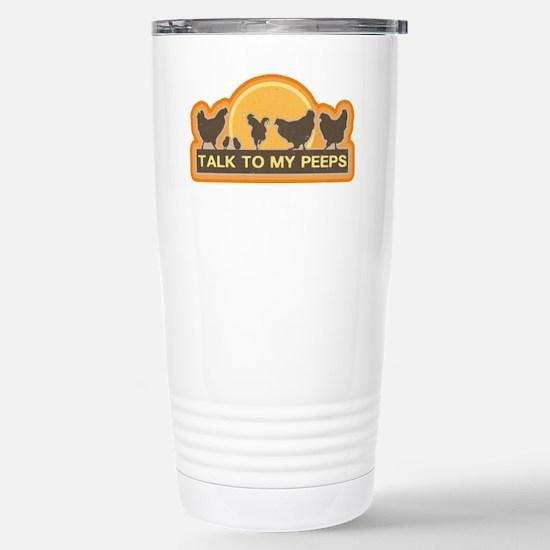 peeps Stainless Steel Travel Mug